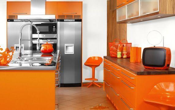 Design : Cuisine Orange Et Jaune 79 ~ Pau, Decoration Cuisine Orange ...